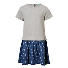 Buy John Lewis Girls Two In One Dress, Grey Online at johnlewis.com