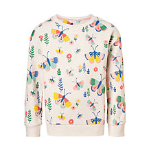 Buy John Lewis Girls' Butterfly Sweatshirt, Cream Online at johnlewis.com