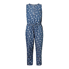 Buy John Lewis Girls' Denim Jumpsuit, Blue Online at johnlewis.com