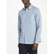 Buy Kin by John Lewis Print Textured Stripe Shirt, Blue Online at johnlewis.com