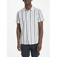 Buy Kin by John Lewis Vertical Stripe Shirt, Blue Online at johnlewis.com