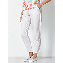 Buy Collection WEEKEND by John Lewis Draw Waist Chinos, White Online at johnlewis.com