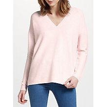 Buy John Lewis Purl Mix Stitch V Neck Jumper Online at johnlewis.com