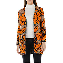 Buy Marc Cain Jacquard Knitted Cardigan, Orange/Gold Online at johnlewis.com