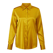 Buy Marc Cain Silk Satin Shirt, Gold Online at johnlewis.com