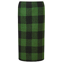 Buy Marc Cain Knitted Check Skirt, Pine Needle Online at johnlewis.com