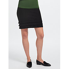 Buy Marc Cain Frill Hem Wool Skirt, Black Online at johnlewis.com