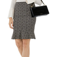 Buy Marc Cain Herringbone Print Skirt, Charcoal Online at johnlewis.com