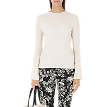 Buy Marc Cain Knitted Fan Sleeve Top, Panna Online at johnlewis.com