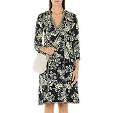 Buy Marc Cain Silk Rich Floral Print Dress, Black Online at johnlewis.com
