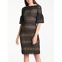 Buy Max Studio Lace Bardot Dress, Black Online at johnlewis.com