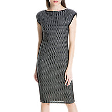 Buy Max Studio Sleeveless Wavy Jersey Dress, Black Online at johnlewis.com