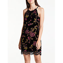Buy Max Studio Burn Out Floral Velvet Dress, Black Online at johnlewis.com