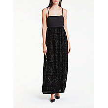 Buy Max Studio Velvet Devore Maxi Dress, Black Online at johnlewis.com