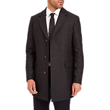 Buy Jaeger Single Breasted Overcoat, Charcoal Online at johnlewis.com