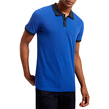 Buy Jaeger Short Sleeve Polo Top, Blue Online at johnlewis.com