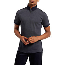 Buy Jaeger Zip-Up Polo Shirt, Navy Online at johnlewis.com