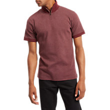 Buy Jaeger High Neck Polo Shirt, Merlot Online at johnlewis.com