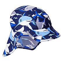 Buy John Lewis Children's Shark Keppi Sun Hat, Blue Online at johnlewis.com