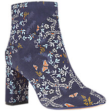 Buy Ted Baker Ishbel Block Heeled Floral Ankle Boot, Dark Blue Online at johnlewis.com