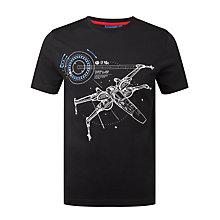 Buy Star Wars X-Wing T-Shirt, Black Online at johnlewis.com