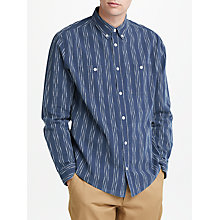 Buy JOHN LEWIS & Co. Mariposa Textured Long Sleeve Shirt, Indigo Online at johnlewis.com