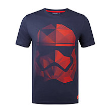 Buy Star Wars Stormtrooper T-Shirt, Navy Online at johnlewis.com