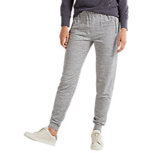 Buy White Stuff Thanks A Bunch Zip Joggers, Light Grey Online at johnlewis.com