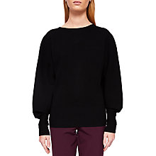 Buy Ted Baker Popsah Bell Sleeve Jumper, Black Online at johnlewis.com