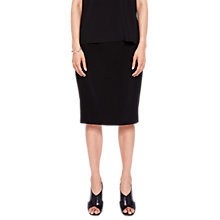 Buy Ted Baker Shilis Ottoman Contrast Pencil Skirt, Black Online at johnlewis.com