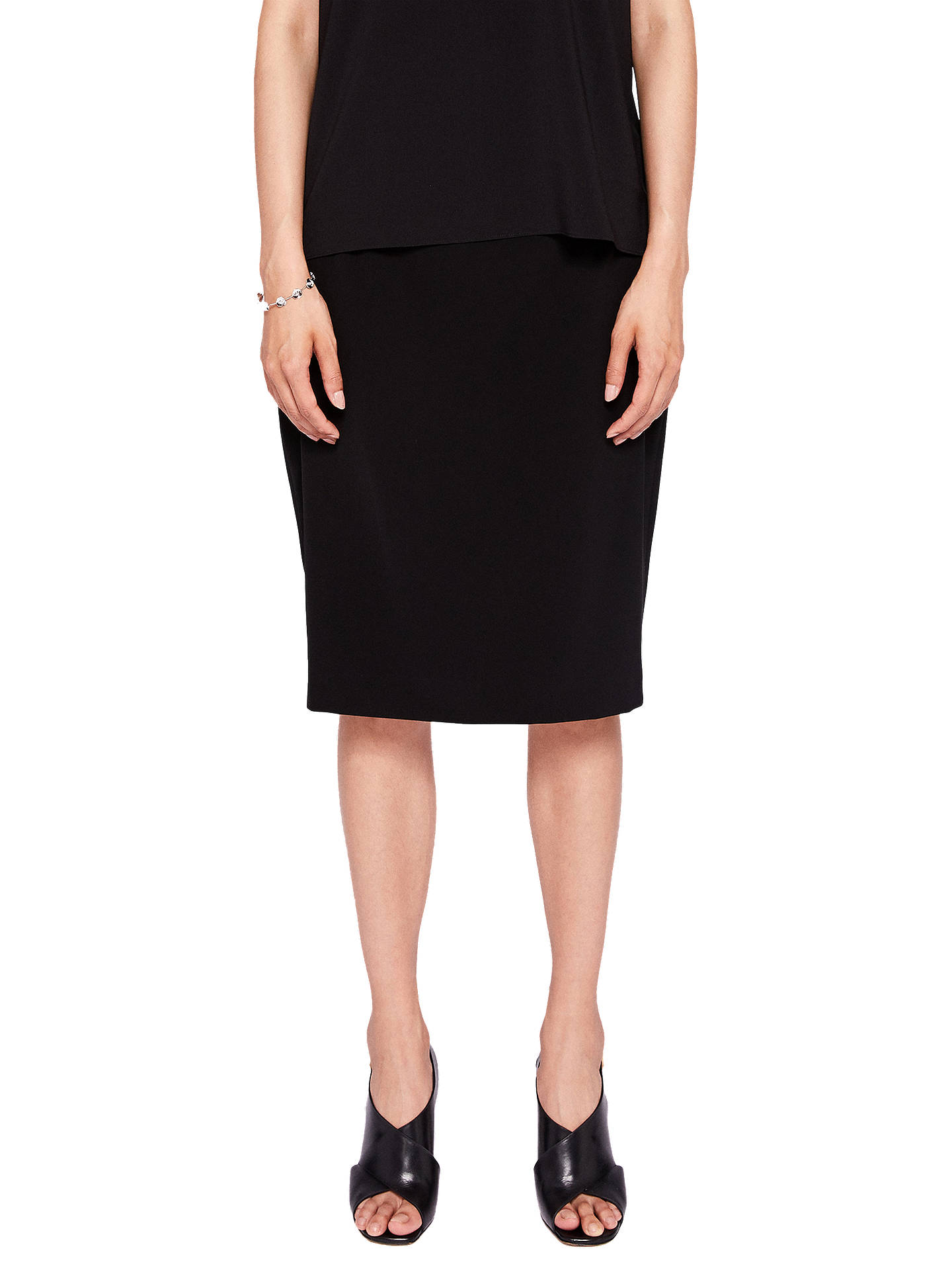 f41fa7f23b03ab Buy Ted Baker Shilis Ottoman Contrast Pencil Skirt, Black, 0 Online at  johnlewis.