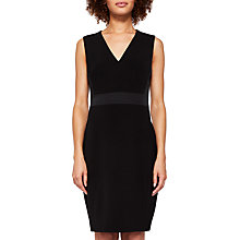 Buy Ted Baker Shilidd V Neck Ottoman Dress, Black Online at johnlewis.com