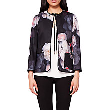 Buy Ted Baker Needine Chelsea Cord Trim Jacket, Black/Multi Online at johnlewis.com