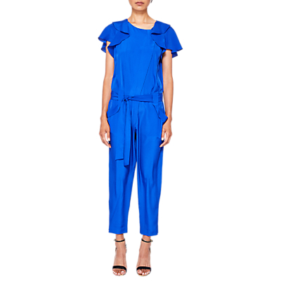 Ted Baker Steffea Draped Sleeve Jumpsuit, Bright Blue