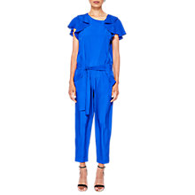 Buy Ted Baker Steffea Draped Sleeve Jumpsuit, Bright Blue Online at johnlewis.com