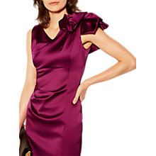 Buy Karen Millen Couture Drape Signature Dress, Magenta Online at johnlewis.com