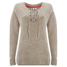 Buy White Stuff Lasso Tie Front Jumper, Grey Online at johnlewis.com