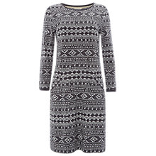Buy White Stuff Geo Jacquard Dress, Smoky Grey Online at johnlewis.com
