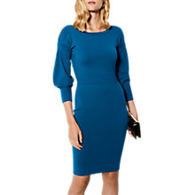 Buy Karen Millen Deconstructed Cold Shoulder Dress, Blue Online at johnlewis.com
