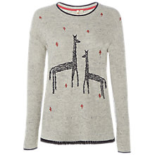 Buy White Stuff Canter Embroidered Jumper, Grey Online at johnlewis.com