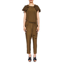 Buy Ted Baker Drape Sleeve Jumpsuit, Khaki Online at johnlewis.com