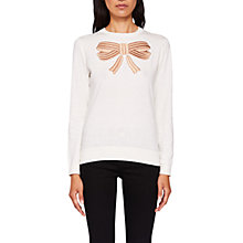 Buy Ted Baker Bow Detail Jumper, Ivory Online at johnlewis.com