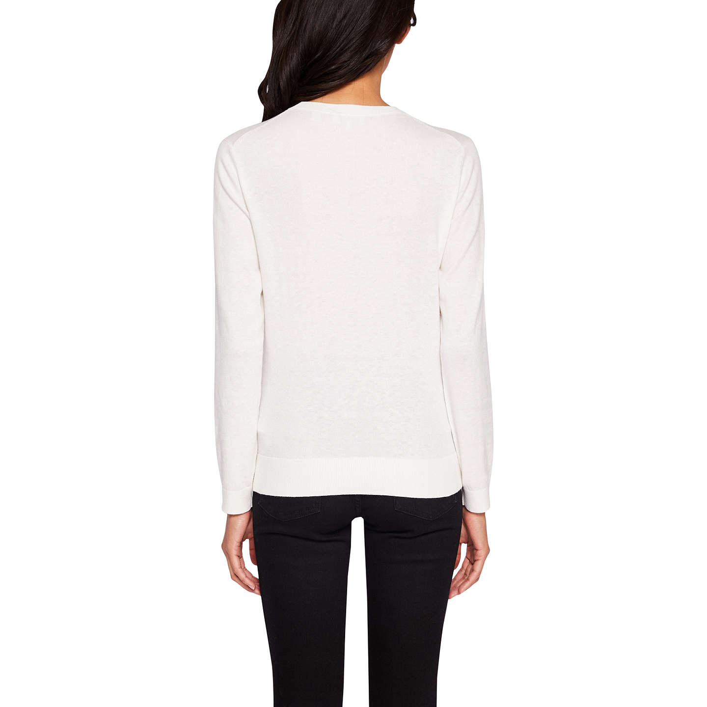 BuyTed Baker Bow Detail Jumper, Ivory, 6 Online at johnlewis.com