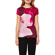 Buy Ted Baker Somayi Porcelain Rose T-Shirt, Maroon Online at johnlewis.com