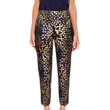 Buy Ted Baker Tvnat Tapered Trousers, Black/Multi Online at johnlewis.com
