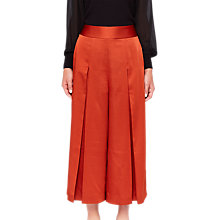 Buy Ted Baker Elsbeta Pleated Culottes, Brick Red Online at johnlewis.com