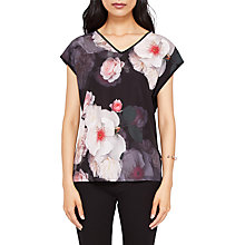 Buy Ted Baker Stevia Chelsea V Neck T-Shirt, Black/Multi Online at johnlewis.com