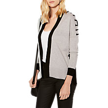 Buy Karen Millen Eyelet Cardigan, Grey/Multi Online at johnlewis.com