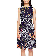 Buy Ted Baker Jenessa Asymmetric Dress, Blue/Multi Online at johnlewis.com