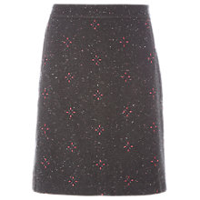 Buy White Stuff Tipi Embroidered Skirt, Grey Online at johnlewis.com